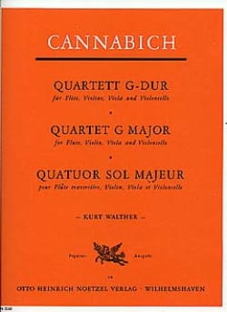 Quartett G-Dur –Flöte Violin Viola Violoncello - laflutedepan.com