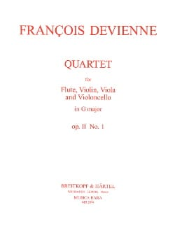 François Devienne - Quartet in G major op. 11 n ° 1 - Flute Thong trio - Parts - Sheet Music - di-arezzo.com