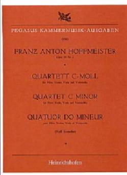 Quartett c-moll -Flöte Violine Viola Cello HOFFMEISTER laflutedepan