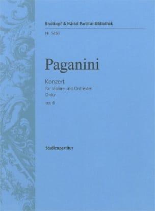 Nicolo Paganini - Violinkonzert D-Dur Op.6 - Driver - Sheet Music - di-arezzo.co.uk