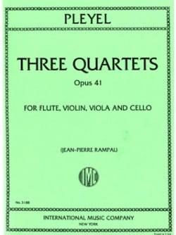 Ignaz Pleyel - 3 Quartets op. 41 -Flute violin viola cello - Parts - Partition - di-arezzo.fr