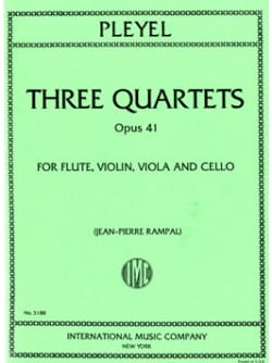 3 Quartets op. 41 -Flute violin viola cello - Parts laflutedepan