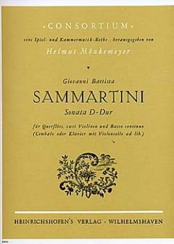 SAMMARTINI - Sonata D-Dur -Flöte 2 Violinen BC - Partition - di-arezzo.fr