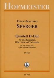 Johann Matthias Sperger - Quartett D-Dur –Solo Kontrabass Flöte Viola Cello - Partition - di-arezzo.fr