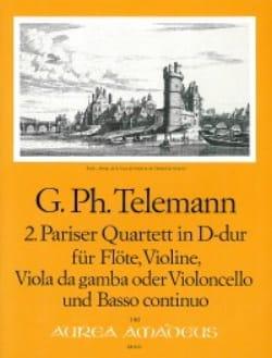 Georg Philipp Telemann - Pariser Quartett Nr. 2 D-Dur –Flöte Violine Viola da gamba BC - Partition - di-arezzo.fr