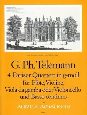 Pariser Quartett Nr. 4 g-moll -Flöte Violine Viola da gamba BC laflutedepan