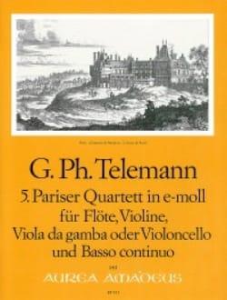 TELEMANN - Pariser Quartett Nr. 5 e-moll - Flute Violine Viola da gamba BC - Sheet Music - di-arezzo.co.uk