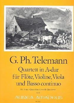 Georg Philipp Telemann - Quartett A-Dur – Flöte Violine Viola BC - Partition - di-arezzo.fr