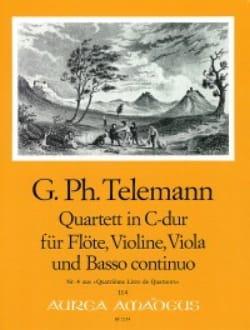 Quartett C-Dur - Flöte Violine Viola BC - TELEMANN - laflutedepan.com