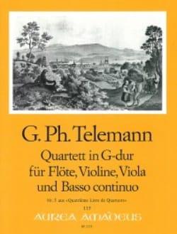 Quartett G-Dur -Flöte Violine Viola BC - TELEMANN - laflutedepan.com