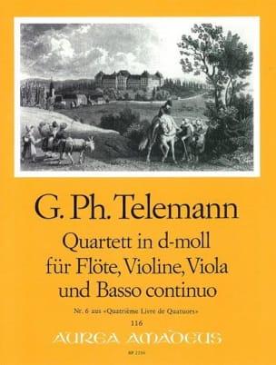 Quartett d-moll - Flöte Violine Viola BC - TELEMANN - laflutedepan.com