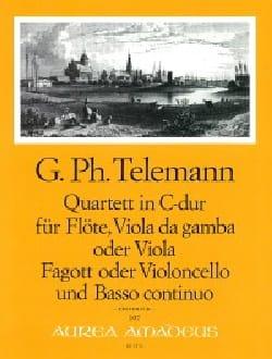 TELEMANN - Quartett C-Dur - Flöte Viola da gamba Fagott BC - Partition - di-arezzo.fr