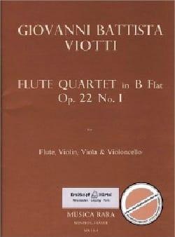 Giovanni Battista Viotti - Flute Quartet in B flat op. 22 n° 1 – Flute violin viola cello - Partition - di-arezzo.fr