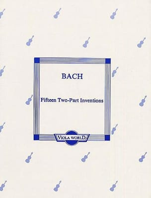 BACH - 15 Two-Part Inventions - Partition - di-arezzo.fr