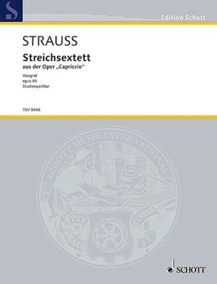 Richard Strauss - Streichsextett aus der Capriccio op. 85 – Partitur - Partition - di-arezzo.fr