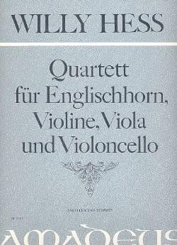 Willy Hess - Quartett, Op. 141 - Cor Anglais-Violon-Alto-Violoncelle - Partition - di-arezzo.fr