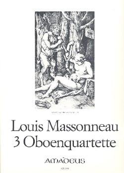 Louis Massonneau - 3 Oboenquartette – Oboe Violine Viola Cello - Stimmen - Partition - di-arezzo.fr