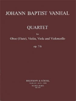 Johann Baptist Vanhal - Cuarteto op. 7 n ° 6 - Oboe violin viola cello - Partitura - di-arezzo.es