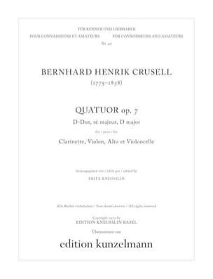 Quatuor op. 7 en ré majeur - Clarinette, violon, alto et violoncelle laflutedepan