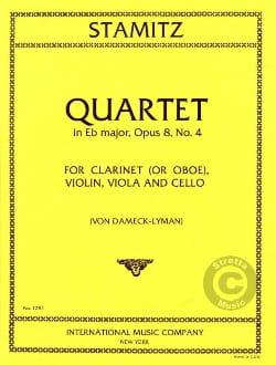 Quartet E flat op. 8 n° 4 - Clarinet violin viola cello - laflutedepan.com