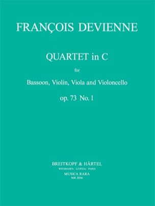 Quartet In C Maj. Op. 73 N° 1 DEVIENNE Partition laflutedepan