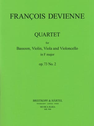 François Devienne - Quartet in F major op. 73 n° 2 - Bassoon strings - Partition - di-arezzo.fr