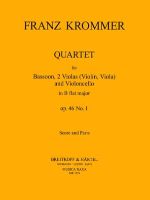 Quartet In B Flat Op. 46 N° 1 KROMMER Partition laflutedepan