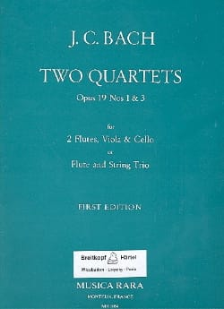 Johann Christian Bach - 2 Quartets op. 19 n ° 1 - 3 - 2 flutes viola cello - Sheet Music - di-arezzo.com