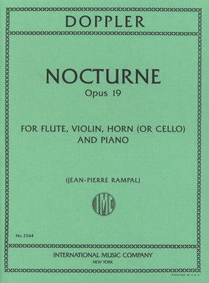 Franz Doppler - Nocturne, Op. 19 - Flûte-Violon-Cor Ou Cello-Piano - Partition - di-arezzo.fr