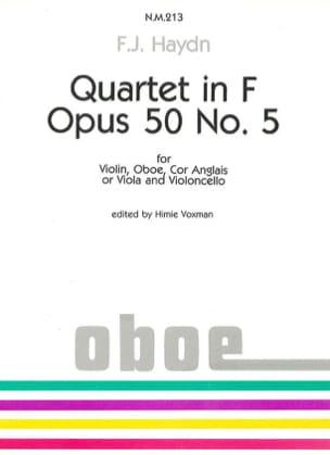 Quartet in F op. 50 n° 5 - Violin Oboe Cor angl. Cello - laflutedepan.com
