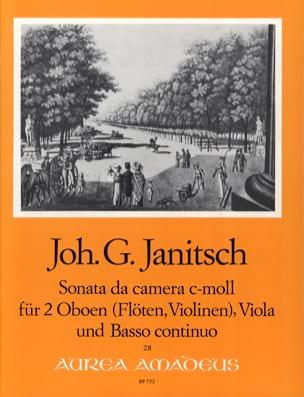 Johann Gottlieb Janitsch - Sonata da camera c-moll op. 5 – 2 Oboen Viola BC - Partition - di-arezzo.fr