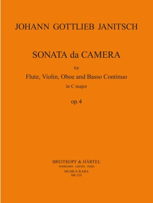 Johann Gottlieb Janitsch - Sonata da camera in C op. 4 - Flute violin oboe BC - Sheet Music - di-arezzo.co.uk