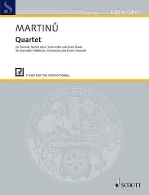 Bohuslav Martinu - Quartetto - Clarinette-Cor-Violoncelle-Tambour Piccolo - Partition - di-arezzo.fr