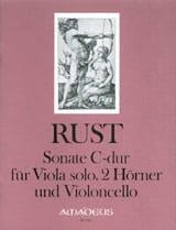 Sonate C-Dur - Viola solo 2 Hörner Violoncello - Stimmen + Partitur - laflutedepan.com