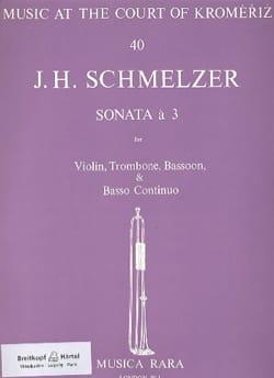Johann Heinrich Schmelzer - Sonata a 3 -Violin trombone bassoon BC - Partition - di-arezzo.fr