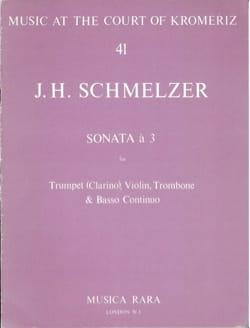 Johann H. Schmelzer - Sonata A 3 - Trompette-Violon-Trombone-B. C. - Partition - di-arezzo.fr