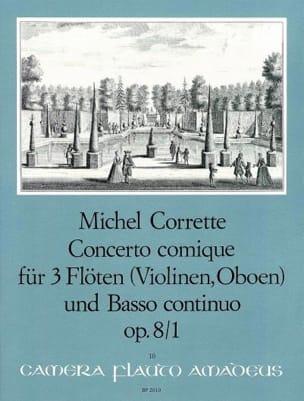 Concerto Comique Opus 8 N° 1 CORRETTE Partition laflutedepan