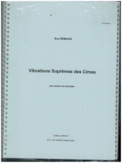 Guy Rémaud - Supreme vibrations of the peaks - Sheet Music - di-arezzo.com