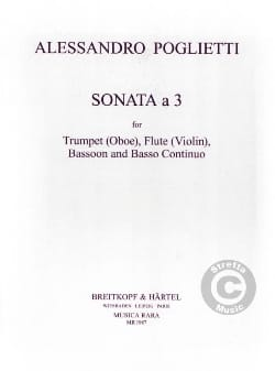 Sonata a 3 -Trumpet Flute Bassoon BC laflutedepan