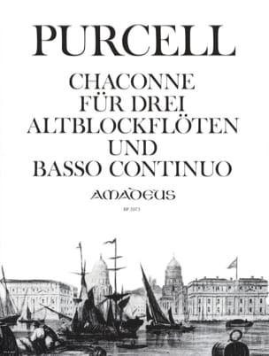 Henry Purcell - Chaconne –3 Altblockflöten u. BC - Partition - di-arezzo.fr