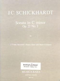 Sonata C minor op. 22 n° 3 -2 Treble recorders oboe BC laflutedepan
