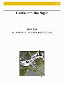 Laura Shur - Gentle to the night - Flute oboe bassoon piano or 3 Flutes / piano - Sheet Music - di-arezzo.co.uk
