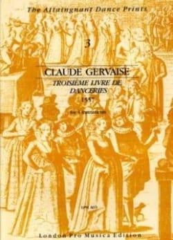 Claude Gervaise - Troisième Livre De Danceries 1557 - 4 Instruments - Partition - di-arezzo.fr