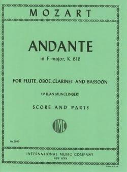 Andante F major KV 616 -Flute oboe clarinet bassoon - Score + parts laflutedepan