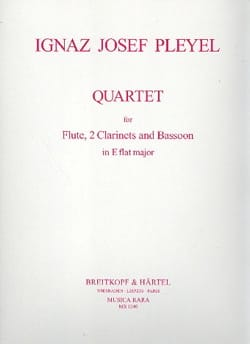 Quartet in E Flat major - Flute 2 clarinets bassoon - Score + parts laflutedepan
