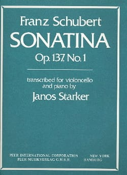 SCHUBERT - Sonatina op. 137 n° 1 transcr. - Partition - di-arezzo.fr