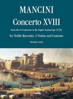 Francesco Mancini - Concerto 18 –flauto 2 violini e bc - Partition - di-arezzo.fr