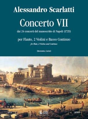 Alessandro Scarlatti - Concerto 7 –Flauto 2 violoni e bc - Partition - di-arezzo.fr