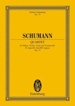 Robert Schumann - Quartett Es-Dur Op. 47 - Conducteur - Partition - di-arezzo.fr