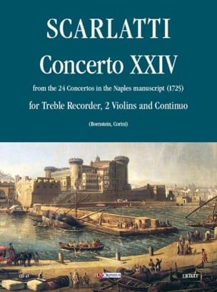 Concerto 24 -Flauto 2 violoni e bc Alessandro Scarlatti laflutedepan